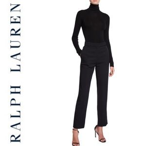 Ralph Lauren Black Pleated Ankle Pants